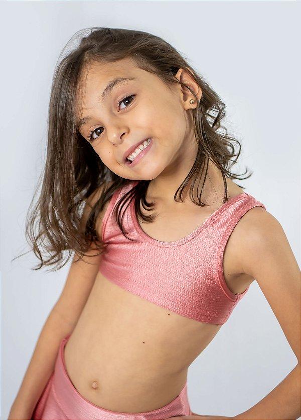 Top Infantil Rosê Gold