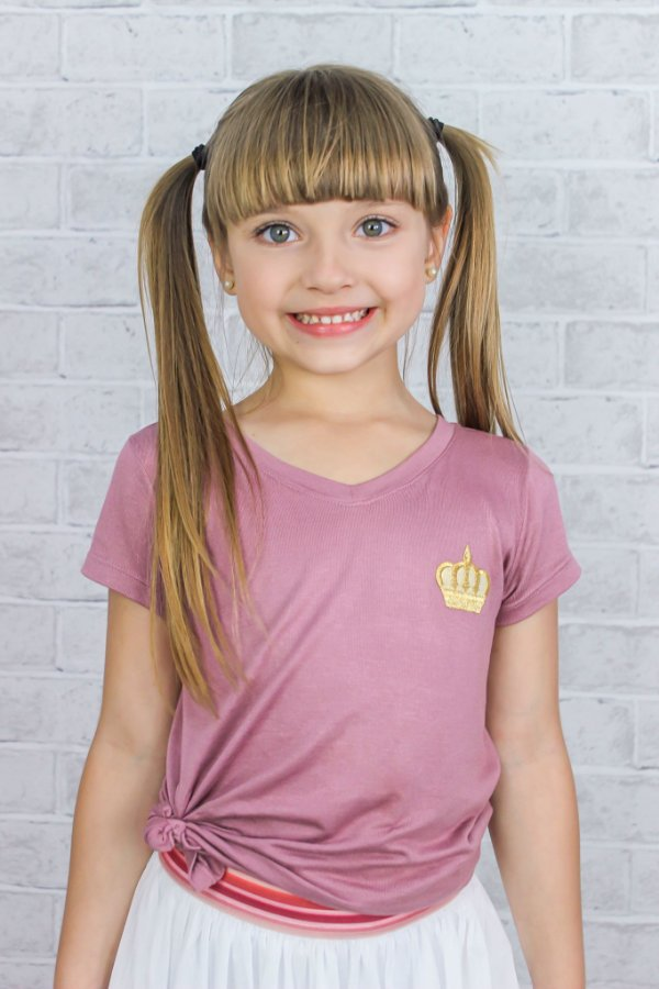 T-shirt Infantil Princesa Rosê