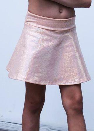 Shorts Saia Infantil Laranjinha Brilhante