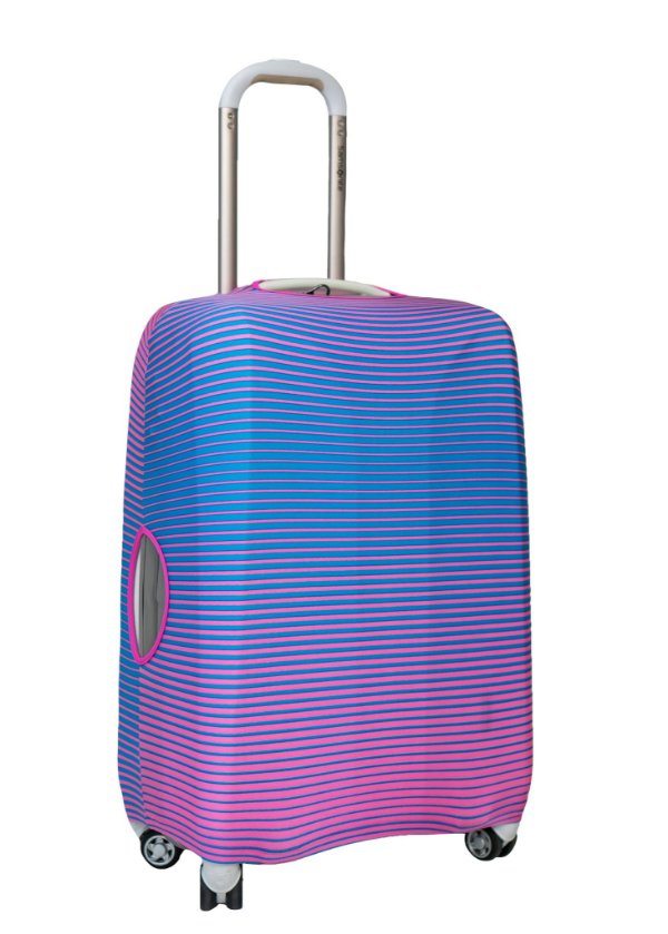 Capa Protetora Para Mala Pequenas Listras em Pink e Azul