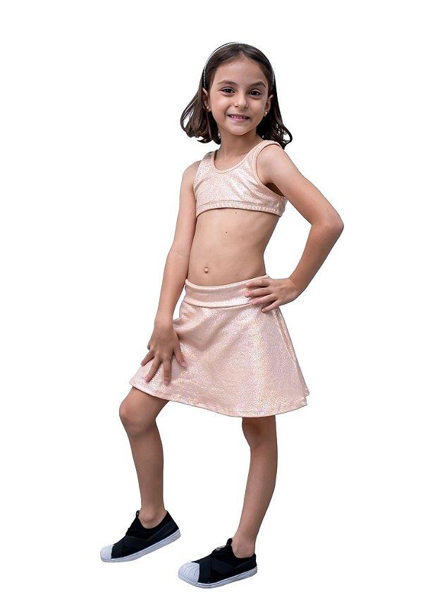 Top Infantil Laranjinha Brilhante