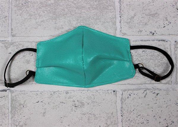 Máscara Infantil Verde Água com Brilho Verde