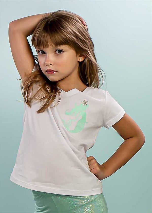 T-shirt Infantil Sereia Star