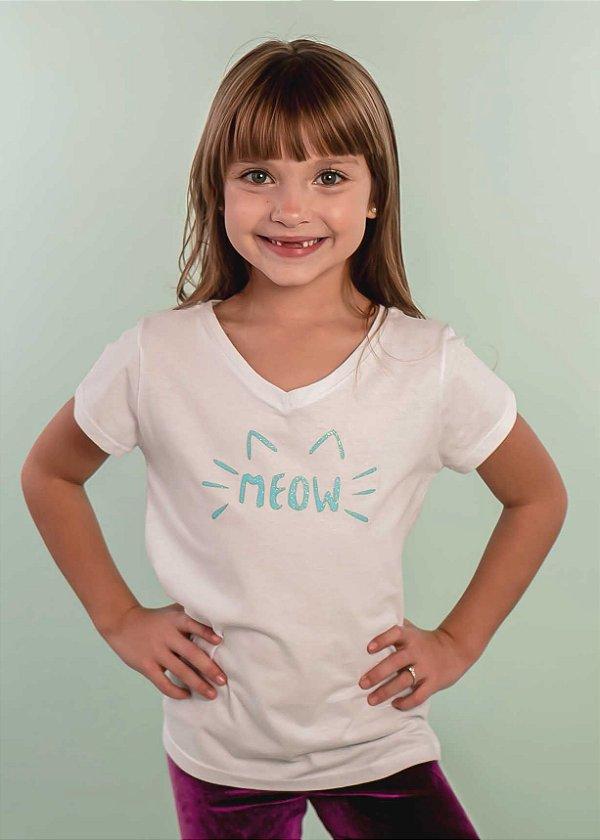 T-shirt Infantil Meow