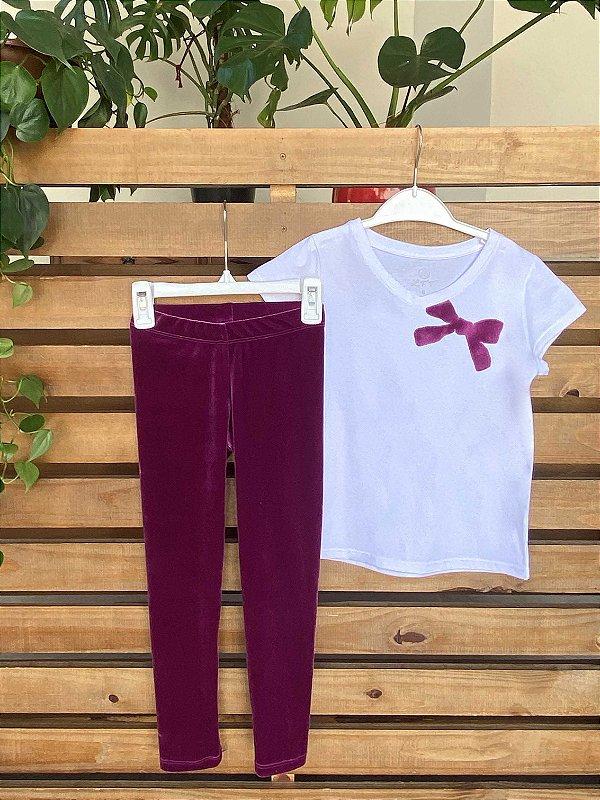 T-shirt Infantil Laço Veludo Amora