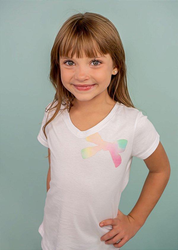 T-shirt Infantil Laço Tie Dye Eco