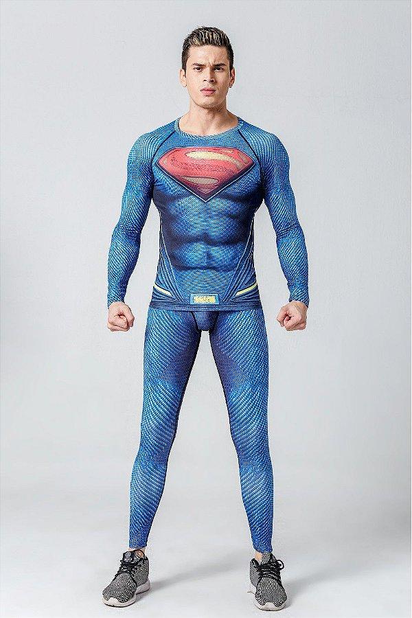Conjunto Calça Superman Liga da Justiça