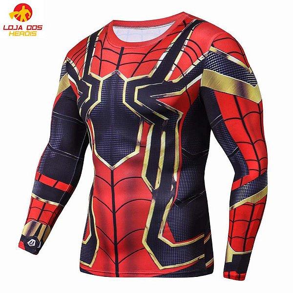 364161864 Camisa Aranha De Ferro - Vingadores Guerra Infinita Manga Longa ...
