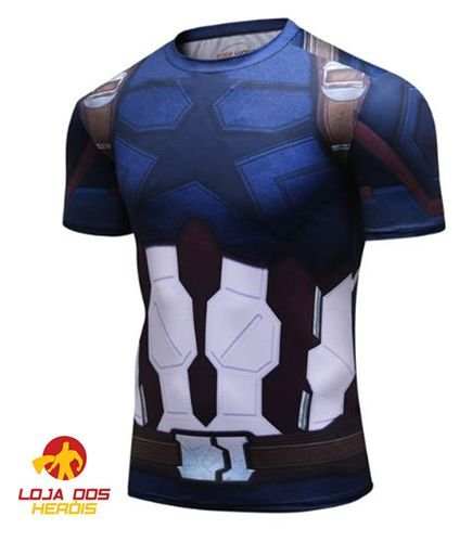 Camisa Capitão América - Guerra Infinita Modelo II