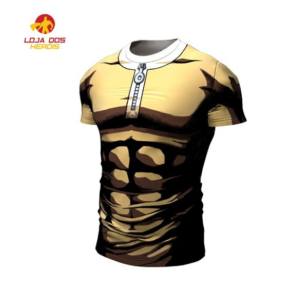 723724a67 Camisa Camiseta Saitama One Punch Man Manga curta Compressão Térmica ...