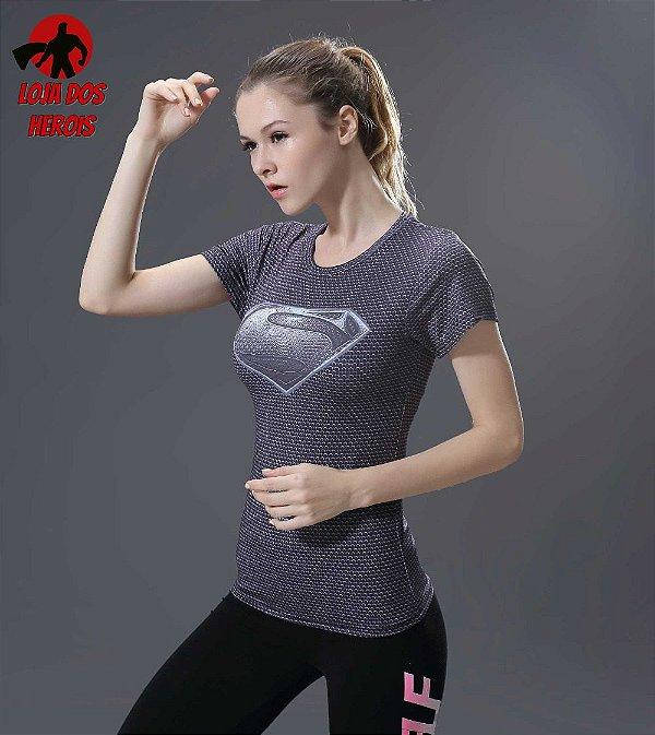 Camisa Feminina Superman Black
