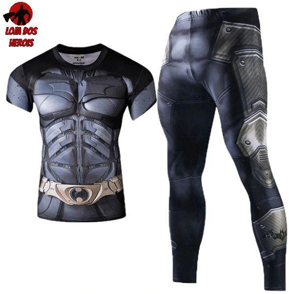 Conjunto Calça Batman Cavaleiro das Trevas curta