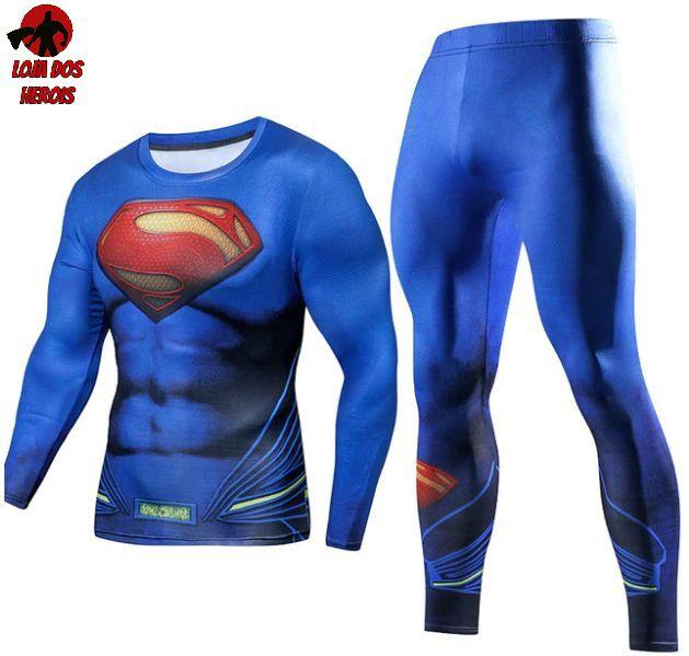 Conjunto Calça Superman Manga Longa