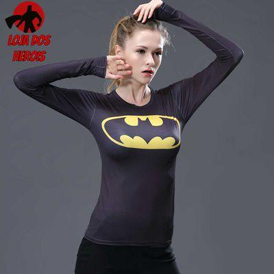 Camisa Feminina Batman Clássico - Manga Longa