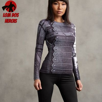 Camisa Feminina Soldado Invernal Guerra Civil - Manga Longa