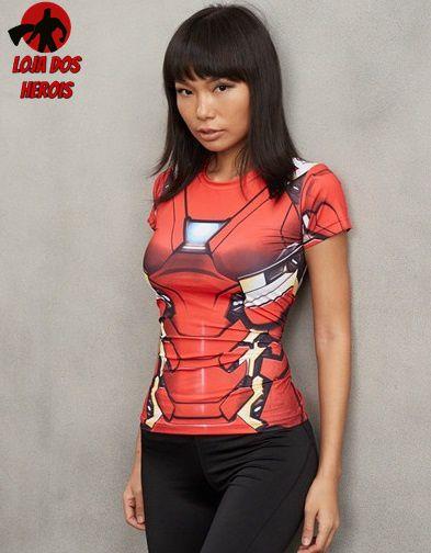 Camisa Feminina Homem De Ferro