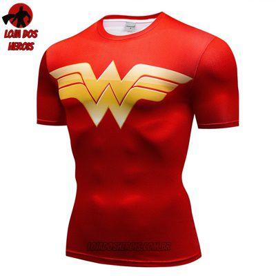 Camiseta Mulher Maravilha Clássica Compressão