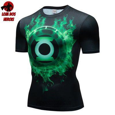 Camiseta Lanterna Verde Compressão