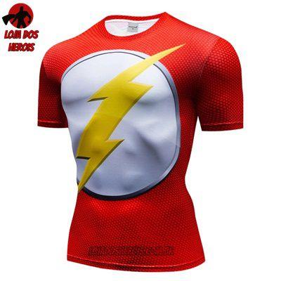 Camiseta Flash Clássico Compressão