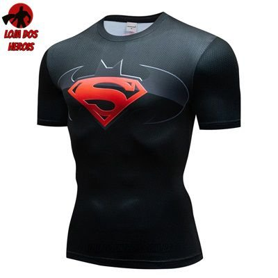 Camiseta Batman Vs Superman Clássico Compressão