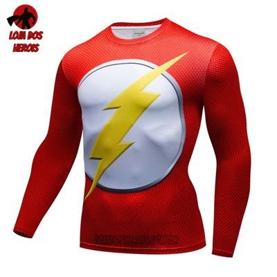 Camiseta Flash Clássico Manga