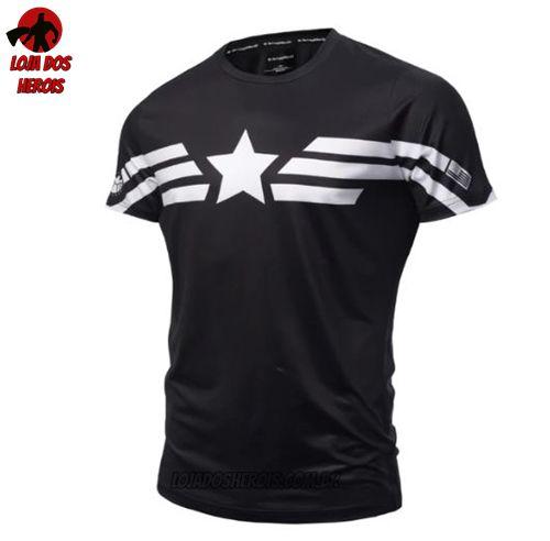 Camisa/Camiseta Capitão América Compressão