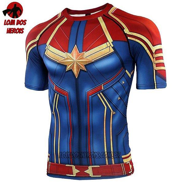 Camisa/Camiseta Capitã Marvel Filme 2019 - Vingadores Ultimato Endgame