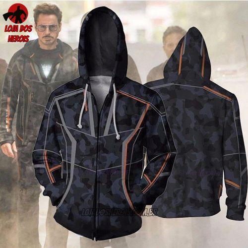 Jaqueta/Blusa Tony Stark Vingadores
