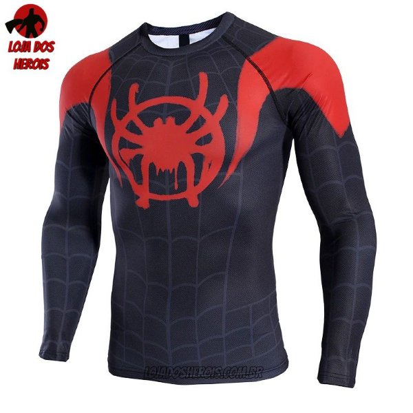Camisa/Camiseta Homem Aranha No Aranhaverso - Miles Morales - Manga