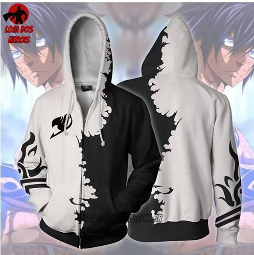Jaqueta/Blusa Gray Fullbuster - Fairy Tail