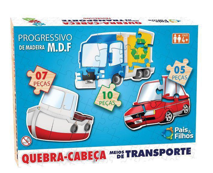 QUEBRA CABEÇA PROGRESSIVO MEIOS DE TRANSPORTES