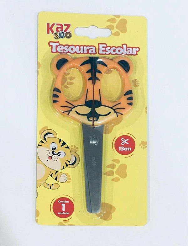 TESOURA ESCOLAR 13 CM - TIGRE