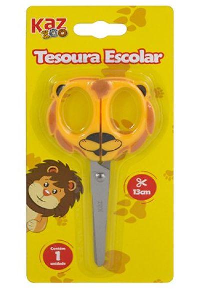 TESOURA ESCOLAR 13 CM - LEÃO