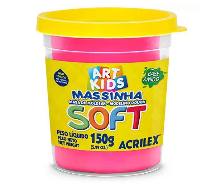MASSINHA DE MODELAR SOFT ROSA - 150G