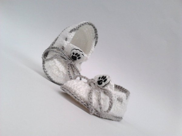 393c8c13a6 A310 Tenis croche bebe branco unissex sapatinho - MM Sapatinhos