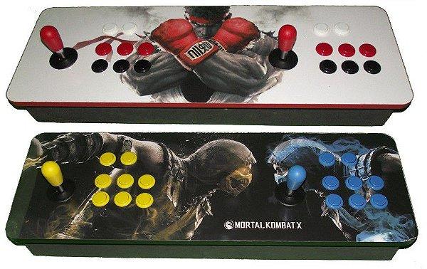 Fliperama Portátil 10.000 jogos - Controle duplo Multijogos Zero Delay 32GB Modelo Clássico Mecânico