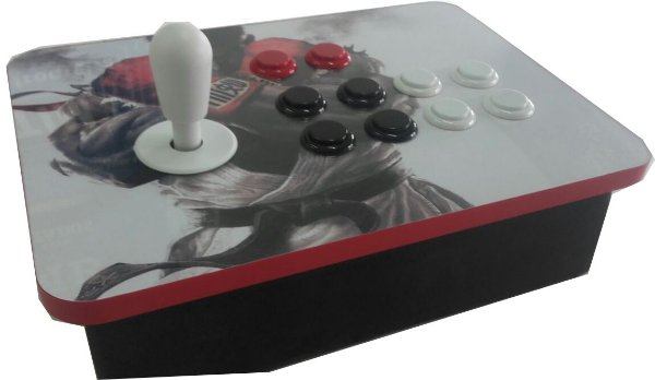 Controle Arcade Single 1 Player USB para PC ou Raspberry