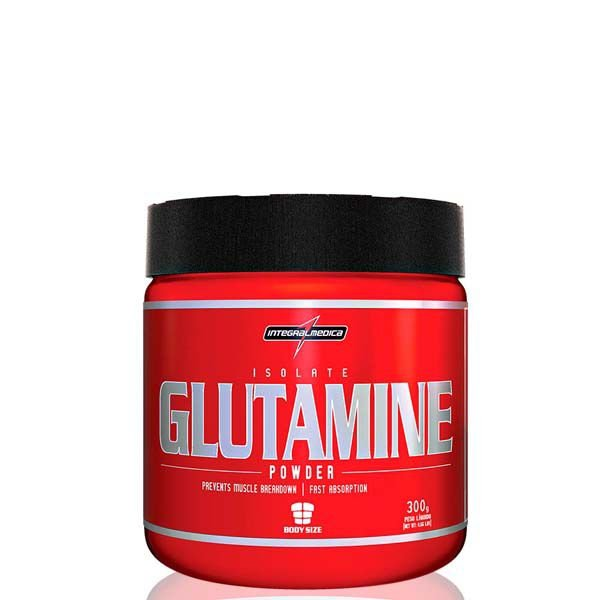 Isolate Glutamine Powder - 300 gramas - Integralmedica val: 05/18
