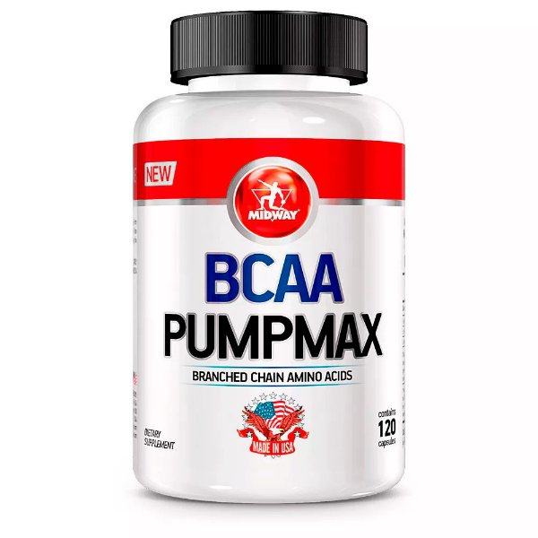 BCAA Pumpmax - 120 cápsulas - Midway