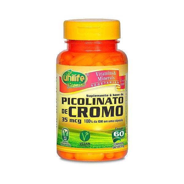 Picolinato de Cromo - 60 cápsulas - Unilife