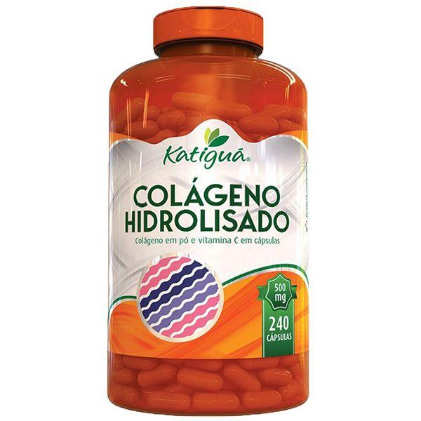 Colágeno Hidrolisado com Vitamina C - 240 Cápsulas - Katigua