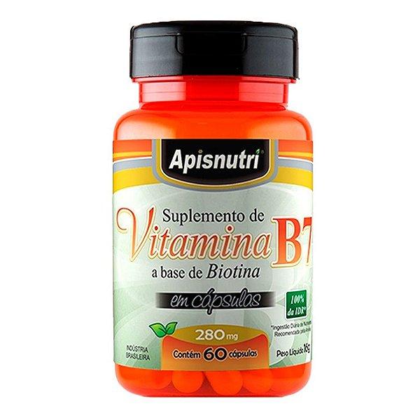 Vitamina B7 (Biotina) - 60 Cápsulas - Apisnutri
