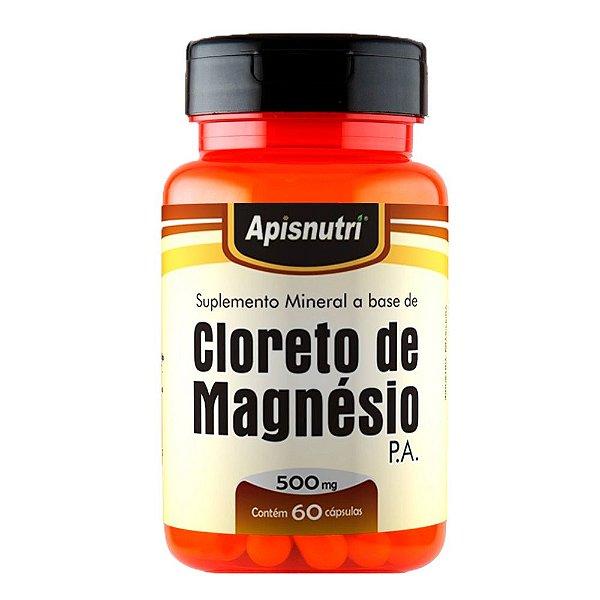 Cloreto de Magnésio P.A. - 60 cápsulas - Apisnutri