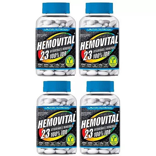 Multivitamínico Hemovital - 4x 120 Tabletes - Lauton