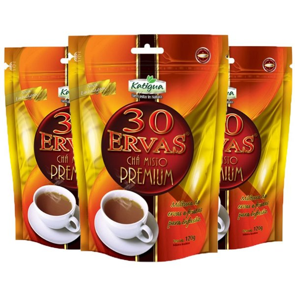 Chá misto 30 Ervas Premium - 3 unidades de 120 Gramas - Katigua