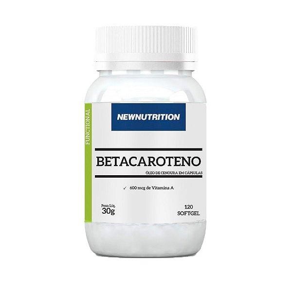 Betacaroteno com Vitamina A - 120 Cápsulas - NewNutrition