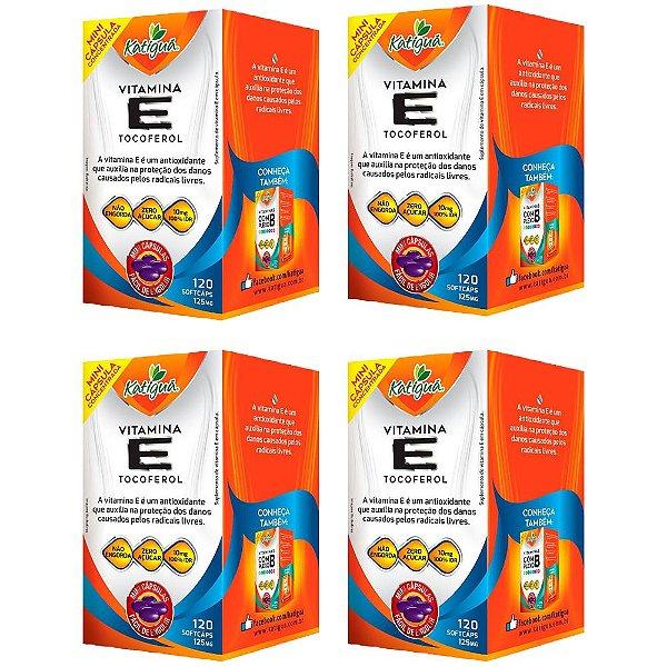 Vitamina E Tocoferol - 4 unidades de 120 Cápsulas - Katigua