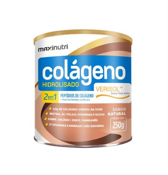 Colágeno Hidrolisado 2 em 1 Verisol - 250 Gramas - Maxinutri