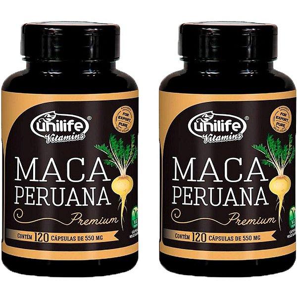 Maca Peruana Premium - 2 unidades de 120 Cápsulas - Unilife