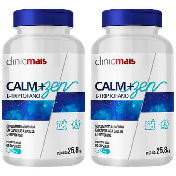 Calm+Zen L-Triptofano - 2 unidades de 60 Cápsulas - Clinic Mais